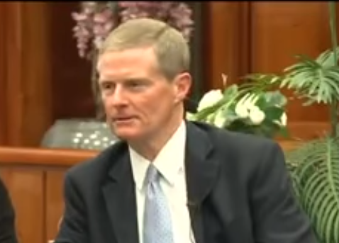 Mormon leader claims church has no homosexual members   The     mormon David Bednar PNG