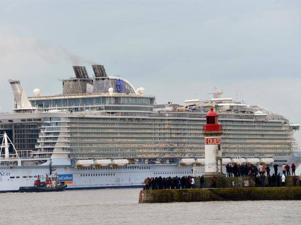 Worlds Biggest Cruise Liner Harmony Of The Seas Takes To The - Harmony cruise