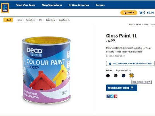 Paint Name aldi scraps name of 'rape yellow' paint after complaints from