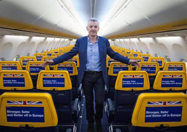 Ryanair to offer free flights, says its chief
