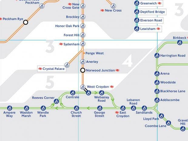 TfL releases new Tube map with tram lines The Independent