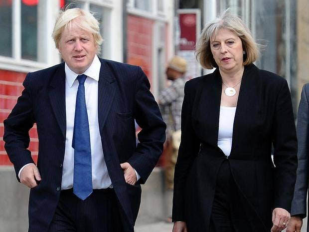 Image result for boris johnson and theresa may