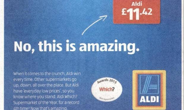 aldi sale adverts banned for being misleading after