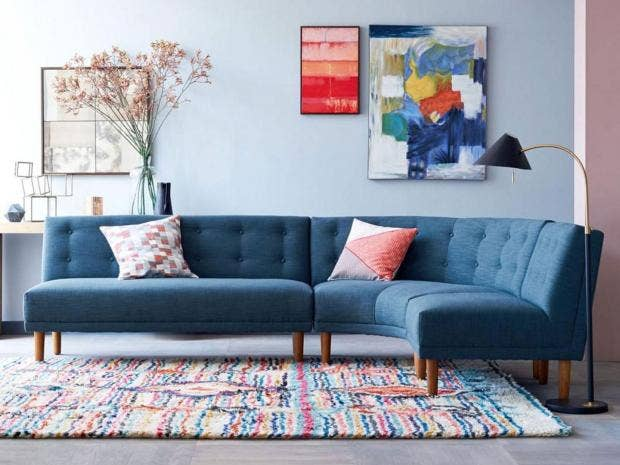 This Vintage Style Sectional Is A Throwback To When The Corner Seat First Gained Popularity In 1970s 1799 West Elm