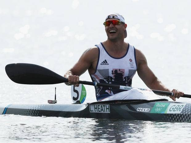 Liam Heath Moments After Crossing The Finishing Line For Gold Getty