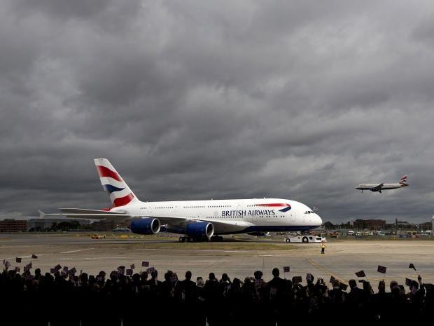 British Airways  home page