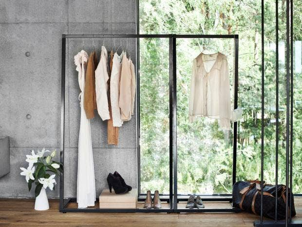 Clothes are coming out of the closet and becoming a useful part of home  decoration in their own right. The trend for open storage has seen rails  and racks ...