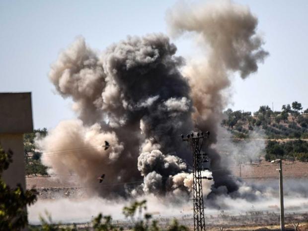 Turkish airstrikes hit Kurdish fighters in Syria