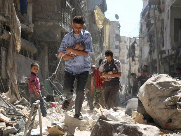 Syrien Bomben