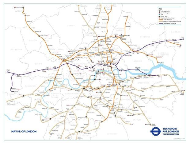Londons Train Map Set For Overhaul As Crossrail And Overground - London map train