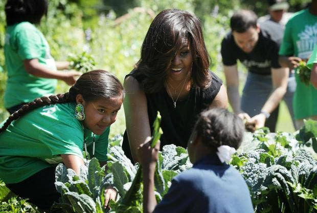 Michelle Obama Preserves White House Kitchen Garden In Stone And Says She Hopes Future