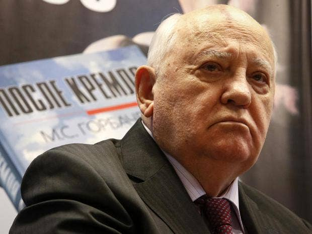 mr gorbachev said all the indications of a cold war are present reuters
