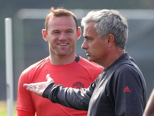 Resultado de imagen de wayne rooney y mourinho