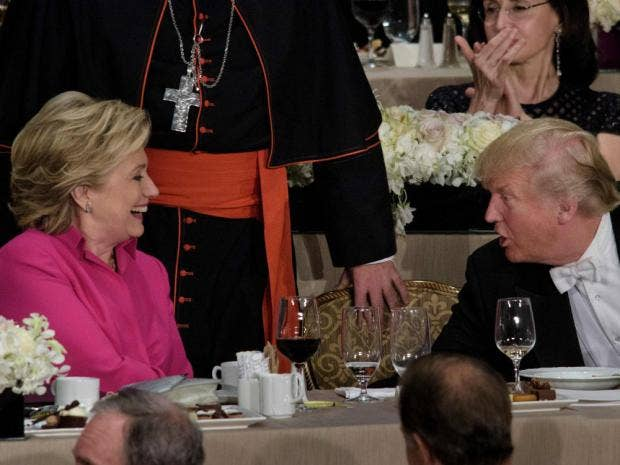 Can Trump, Clinton put aside acrimony at charity dinner?