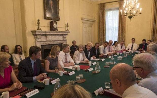 Theresa May Holds Her First Cabinet Meeting, In Downing Street In July