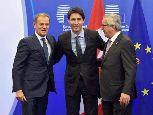Trudeau hails 'blueprint' EU-Canada trade pact