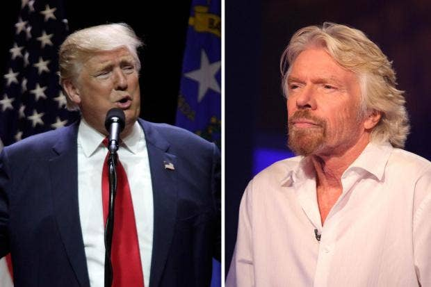 richard branson donald trump leadership styles Sir richard branson, the billionaire behind the ubiquitous virgin brand  safe  pair of hands and a leader of supreme experience and knowhow.