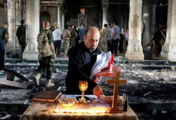 Image result for killing christians in mosul