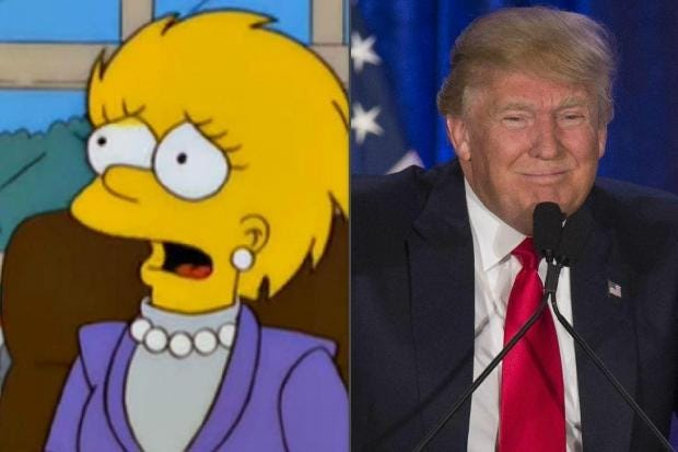 The Simpsons Predicted Trumps Victory Years Ago No One - Simpsons predictions trump us map