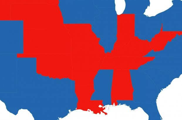 The Electoral Map Of America If Only Young People Had Voted Indy - Us election millennials map