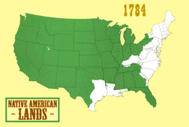 How The US Destroyed Native American Land In One Animated Map - Us public property map
