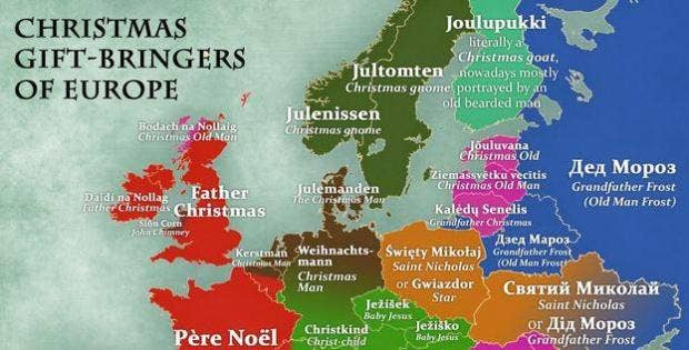 this is what father christmas is called in other european countries