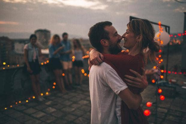 People engage in public displays of affection to show off