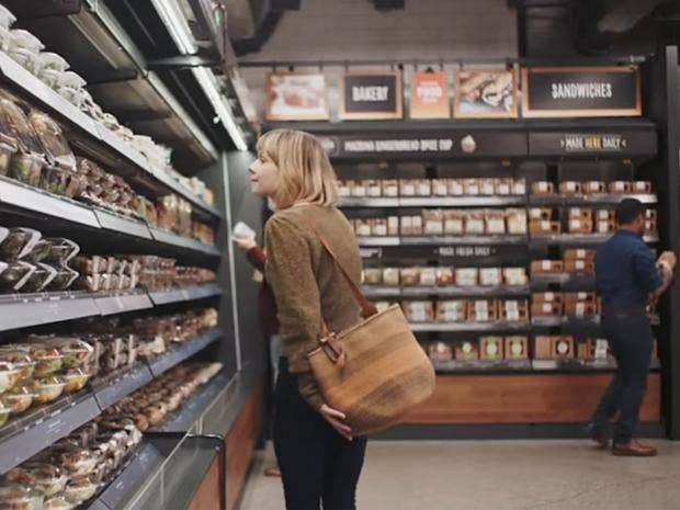 Amazon 39 s grocery store of the future was predicted in this for Amazon design shop