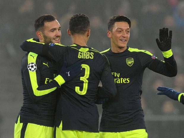 Champions League: Relieved Arsene Wenger praises Lucas Perez as Arsenal top group