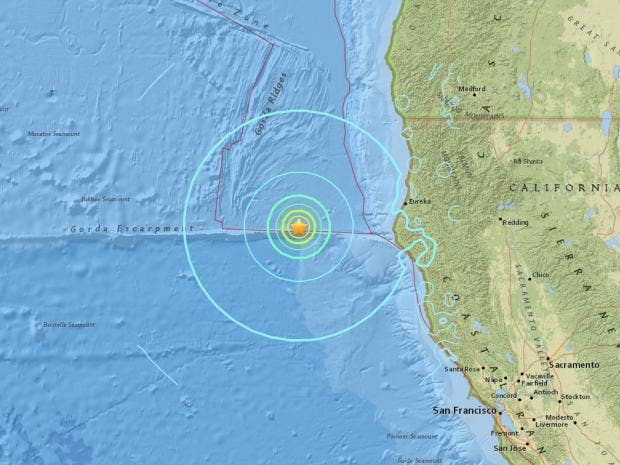 california earthquake latest 6 5 magnitude tremor recorded off west coast