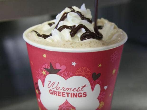 McDonald's Christmas coffee cup's naughty makeover goes viral ...