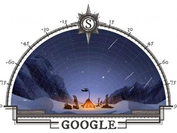 Google doodle celebrates 105th anniversary of first human expedition to South Pole