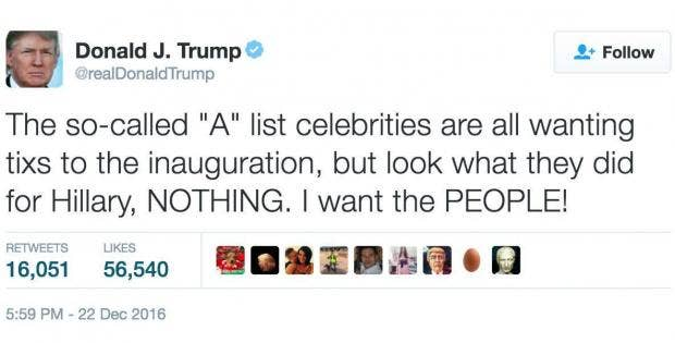 Donald Trump Tweets About Hillary