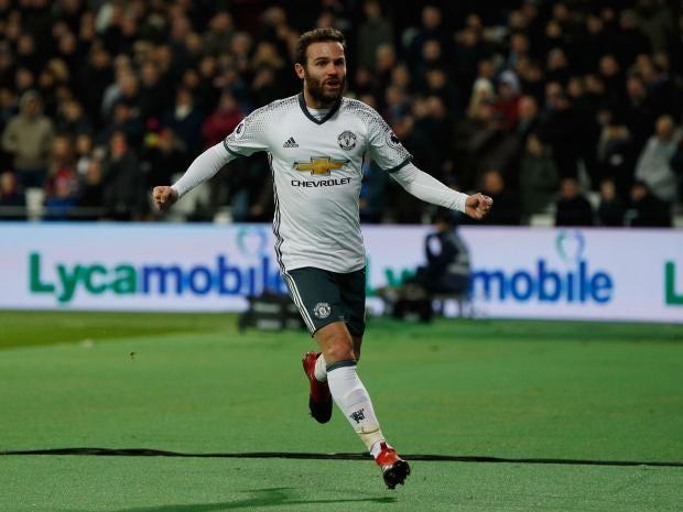 Resultado de imagem para Juan Mata vs West Ham 2017
