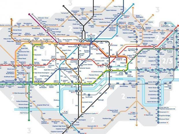 Tube strike This London transport map will get you home during – Uk Tube Map London