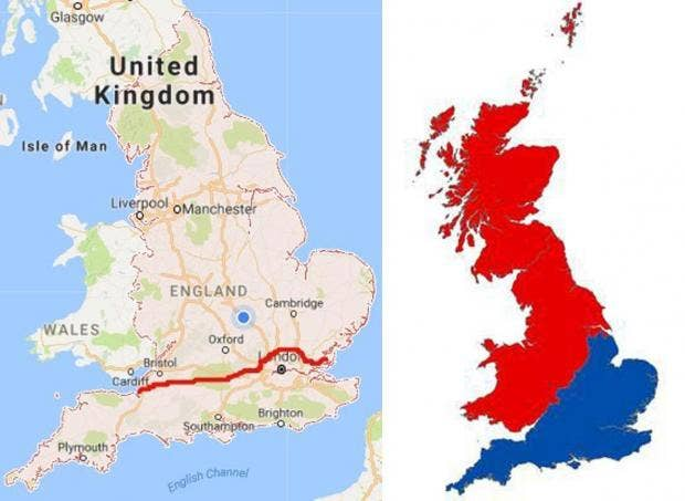 The map of the North according to southerners indy100