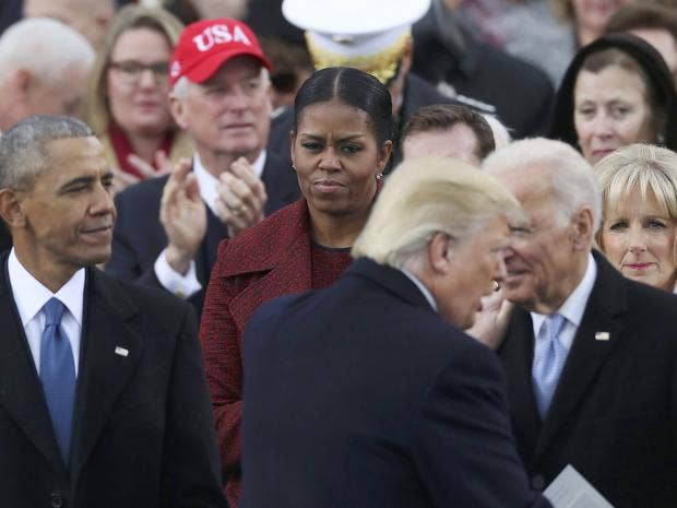 Image result for michelle obama at trump inauguration