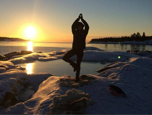 Ice yoga in Swedish Lapland: Does this latest wellness fad make ...