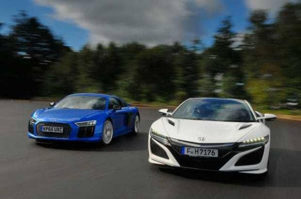 Supercar Shoot Out Honda Nsx Vs Audi The Independent