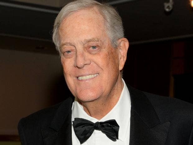 Koch brothers lead billionaire resistance against donald for David charles koch