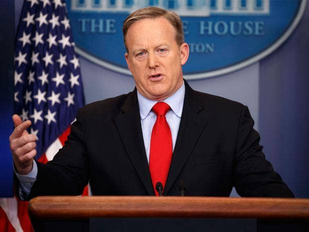 Sean Spicer says Trump's immigration order isn't banning people. That's a lie