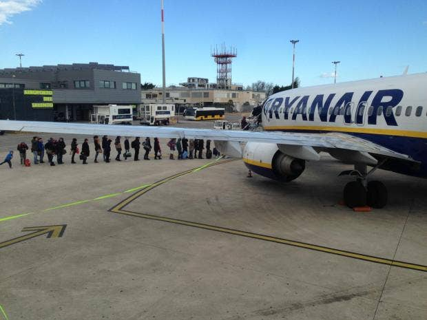 Ryanair says fares fall more than expected but profits on track