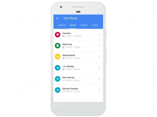 Google Maps update lets you create and share lists of places