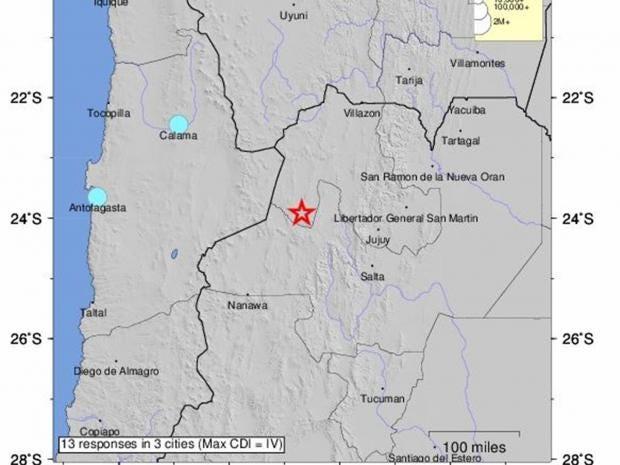 6 3 Magnitude Earthquake Strikes Northern Argentina The