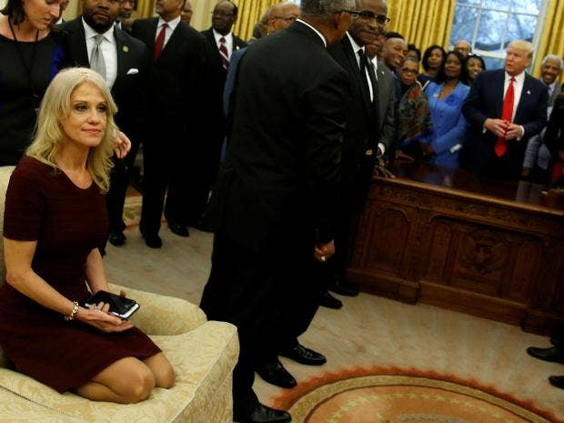Kellyanne Conway Attacked After Being Pictured With Feet
