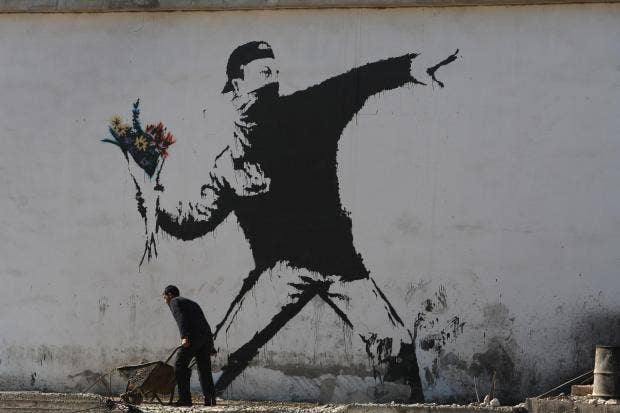 Artist Banksy's work in hotel with world's 'worst view'