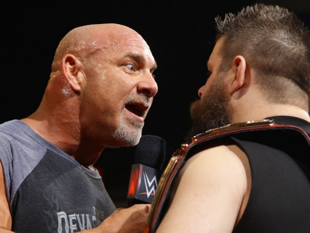 Goldberg plows through Owens to become WWE Universal Champion