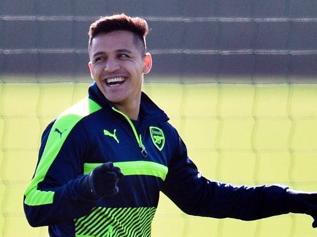Alexis Sanchez caught on camera laughing at Arsenal's humiliating hammering