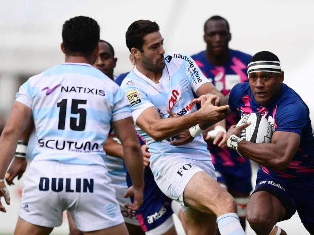 Stade Francais players say they are on strike over mergers