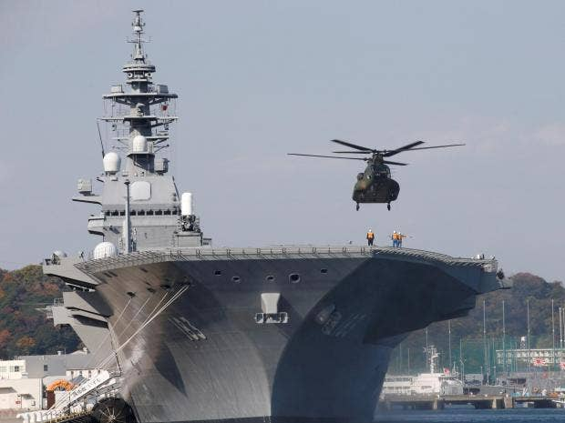 Japan's show of force